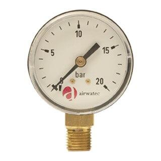 Manomètre Cintropur 0 - 20 Bar, 1/4'' pour NW50/62/75 Cintropur