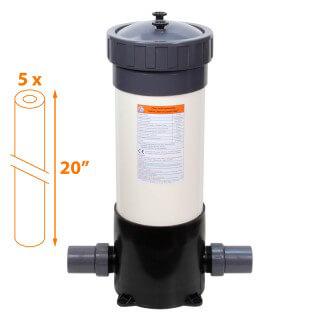 Carter multi-cartouches FHPVC-20x5-A Crystal Filter® - 5 x 20 pouces