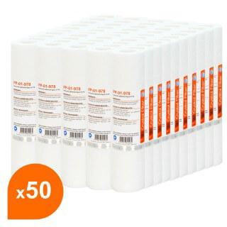 Cartouche PP-01-978 sédiment SPUN 9''7/8 - filtre 1 µm - Crystal Filter® (carton de 50)