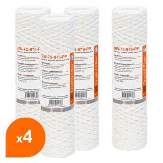 Cartouche SW-75-978-PP sédiment bobinée 9''7/8 - Filtre 75 µm - Crystal Filter® (lot de 4)