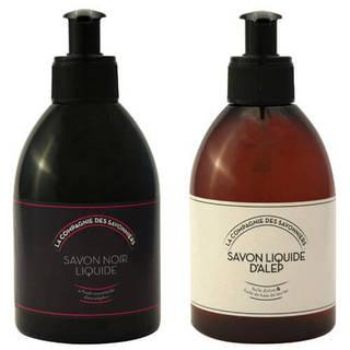 Lot de savons liquide Noir et d'Alep 300 mL