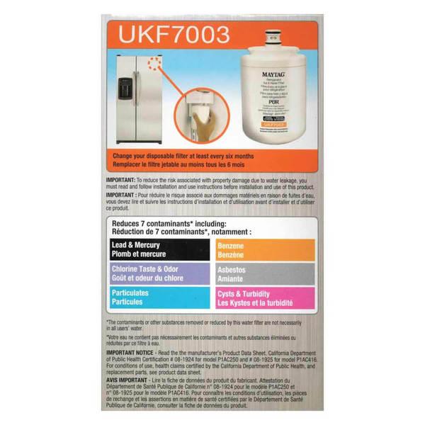 filtre frigo maytag puriclean cartouche ukf maytag 001860. Black Bedroom Furniture Sets. Home Design Ideas