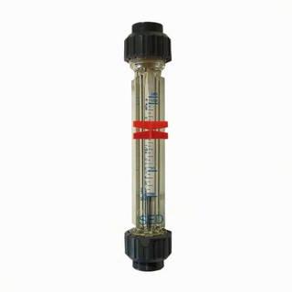 Débitmètre 15-160 l/h à ludion - flotteur aimant - Raccords PVC 20mm à coller