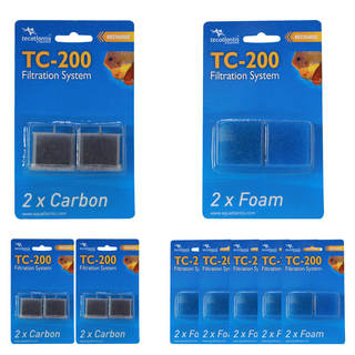 Pack filtration TC-200 6 mois : 12 mousses + 6 charbons