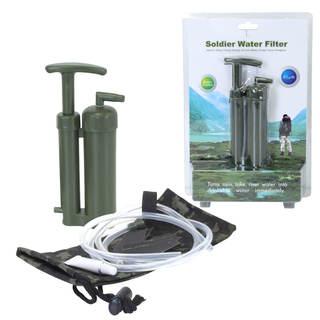 Kit filtration d'eau randonnée - Soldier Water Filter - Filtre à eau innovant de poche