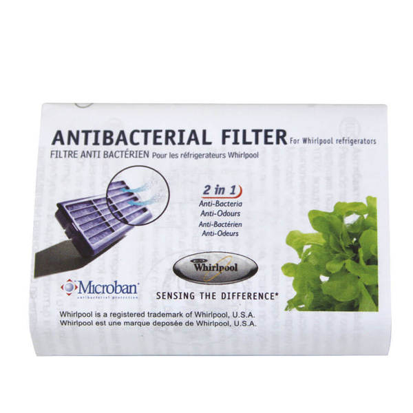 filtre frigo whirlpool avec son filtre air antibact rien microban antf mic whirlpool 002167. Black Bedroom Furniture Sets. Home Design Ideas