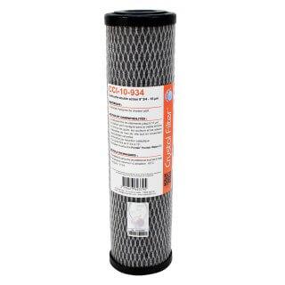 Cartouche CCI-10-934 double-action charbon actif imprégné - Cellulose 10µm - 9''3/4 - Crystal Filter®