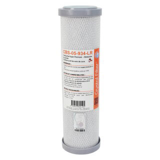 Cartouche CBS-05-934-LR Super Premium charbon actif 9''3/4 - 5 µm - Crystal Filter®